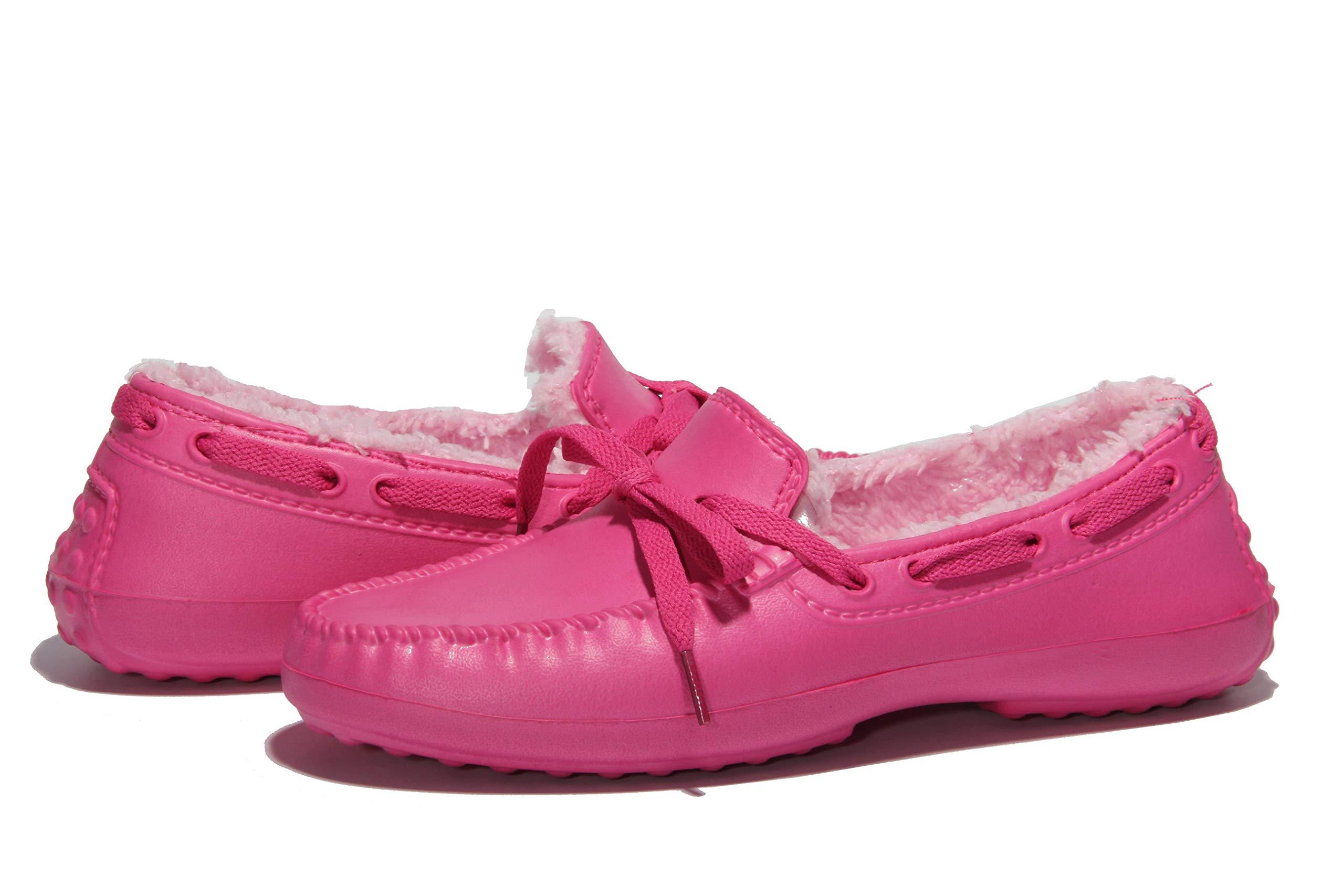 Women's Warm Comfy Velvet Memory Foam Ballerina Slippers Plush Shallow Peas Closed Back House Shoes Indoor Floor Footwear Red