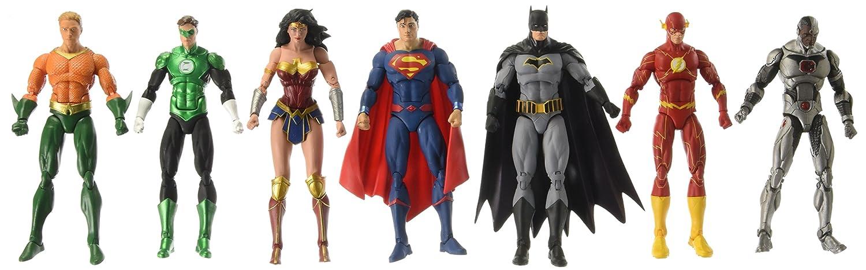 "7 Pcs DC Justice League 7/"" Action Figure Superman Batman Flash Aquaman Cyborg"