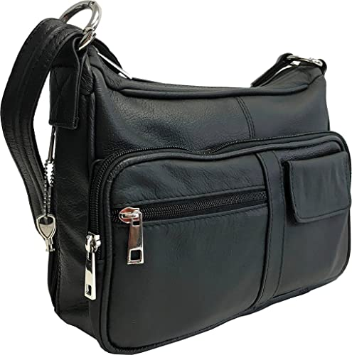 Genuine Leather Locking Concealment Purse CCW Concealed Carry Gun Bag
