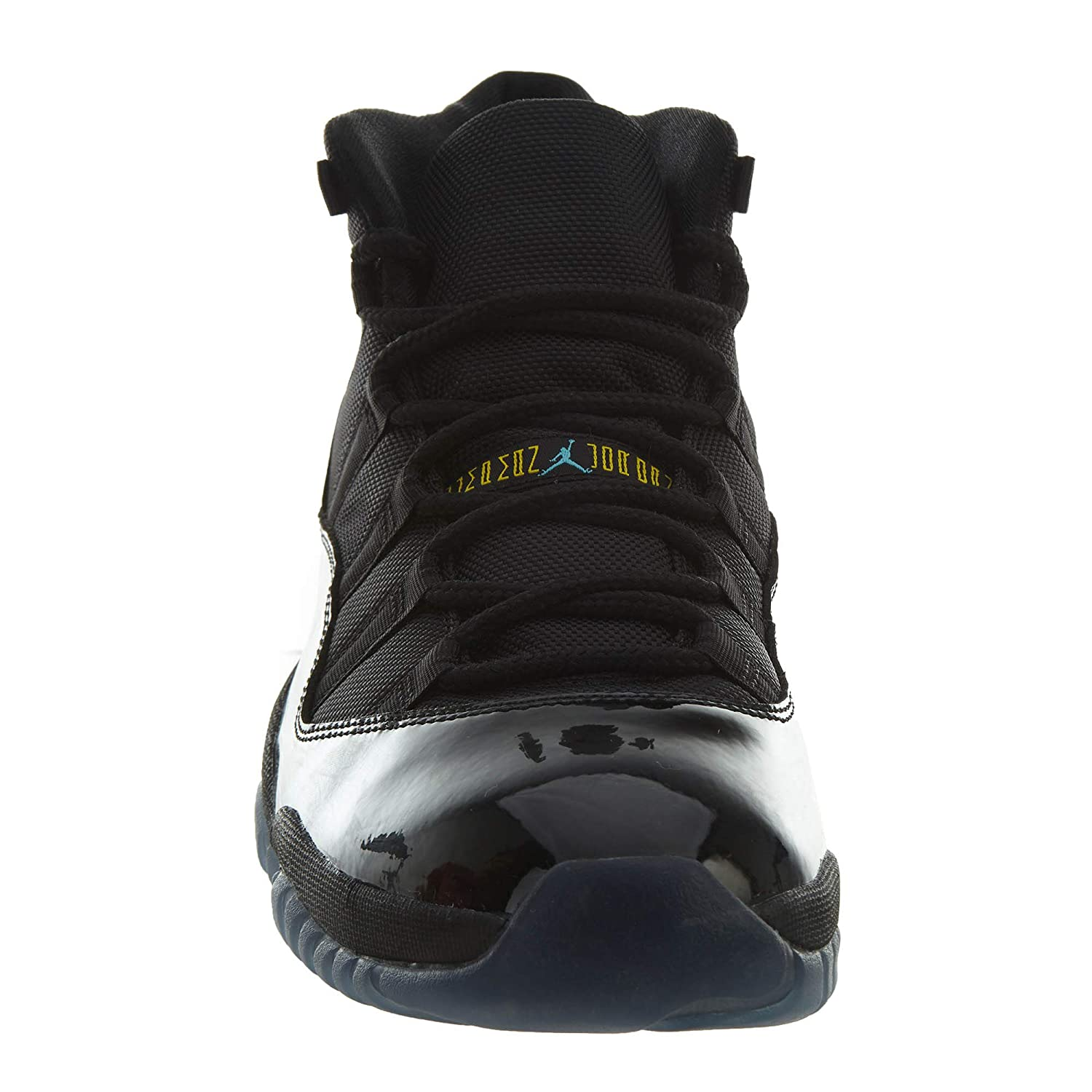quality design 36497 938fe Amazon.com  Nike Mens Air Jordan 11 Retro Black Gamma Blue Leather  Basketball Shoes Size 11  Clothing
