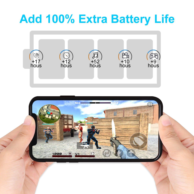5000 mAh Caricabatterie Ultra Sottile Power Case Ricaricabile Custodia Batteria Portatile Backup per iPhone XS Max HiKiNS Cover Batteria per iPhone XS Max