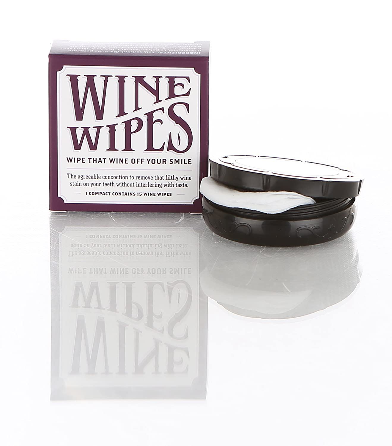 amazon com wine wipes 1 compact of 15 wipes kitchen dining