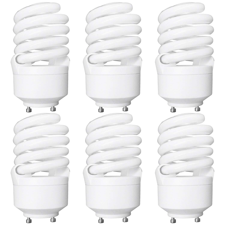 Luxrite LR22320 (6-Pack) CF23 23-Watt CFL T2 Spiral Bulb, Equivalent To 100W Incandescent, Warm Light 2700K, 1600 Lumens, GU24 Bi-Pin Base