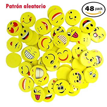 Clerfy Acc 48 x Emoji Emoticon Lápiz Gomas borrar Lindos ...