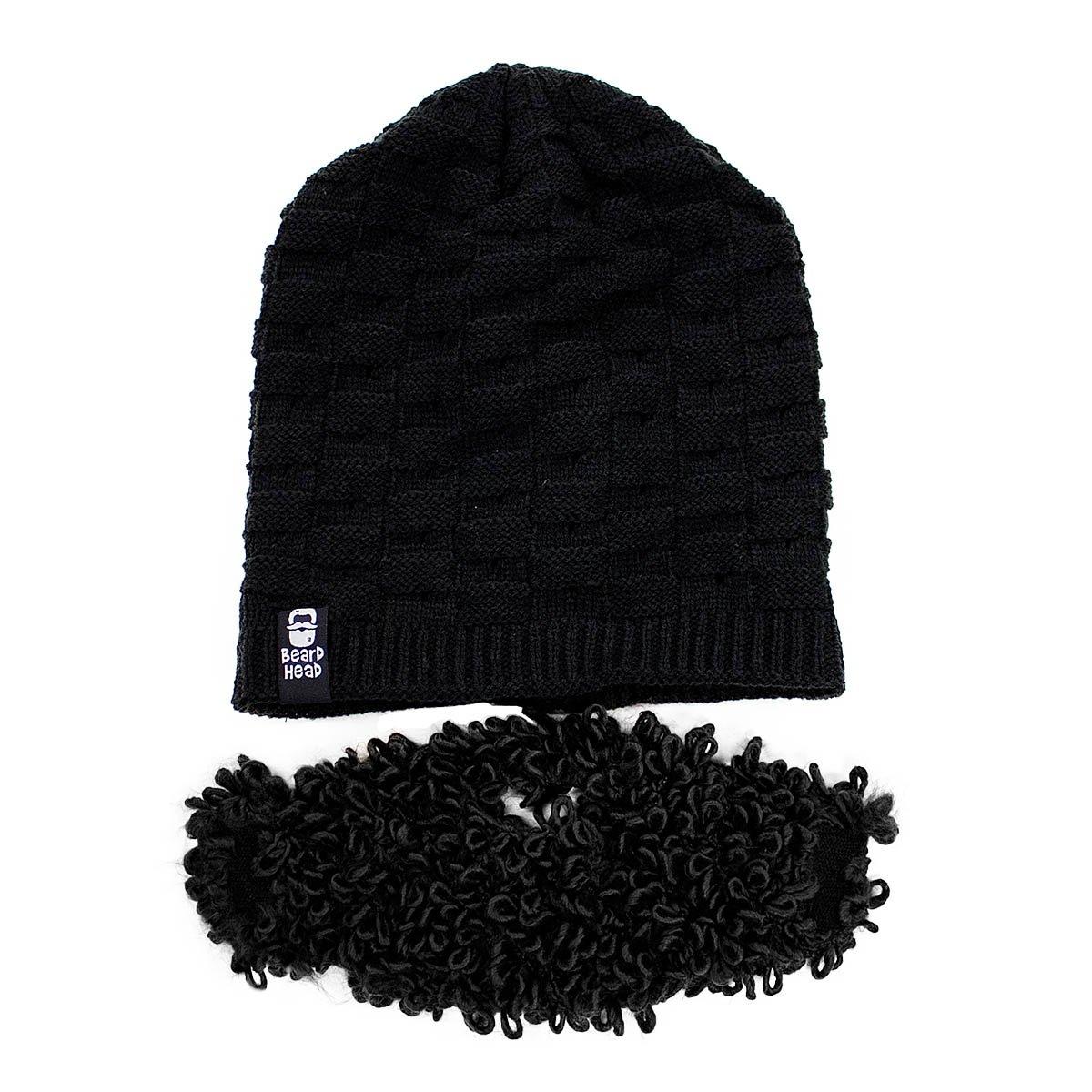 d594697bd93 Amazon.com   Beard Head - The Original Curly Atticus Knit Beard Beanie ( Black)   Sports   Outdoors