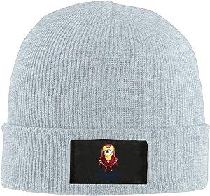 Amone Minion Iron Man Winter Knitting Wool Warm Hat Ash