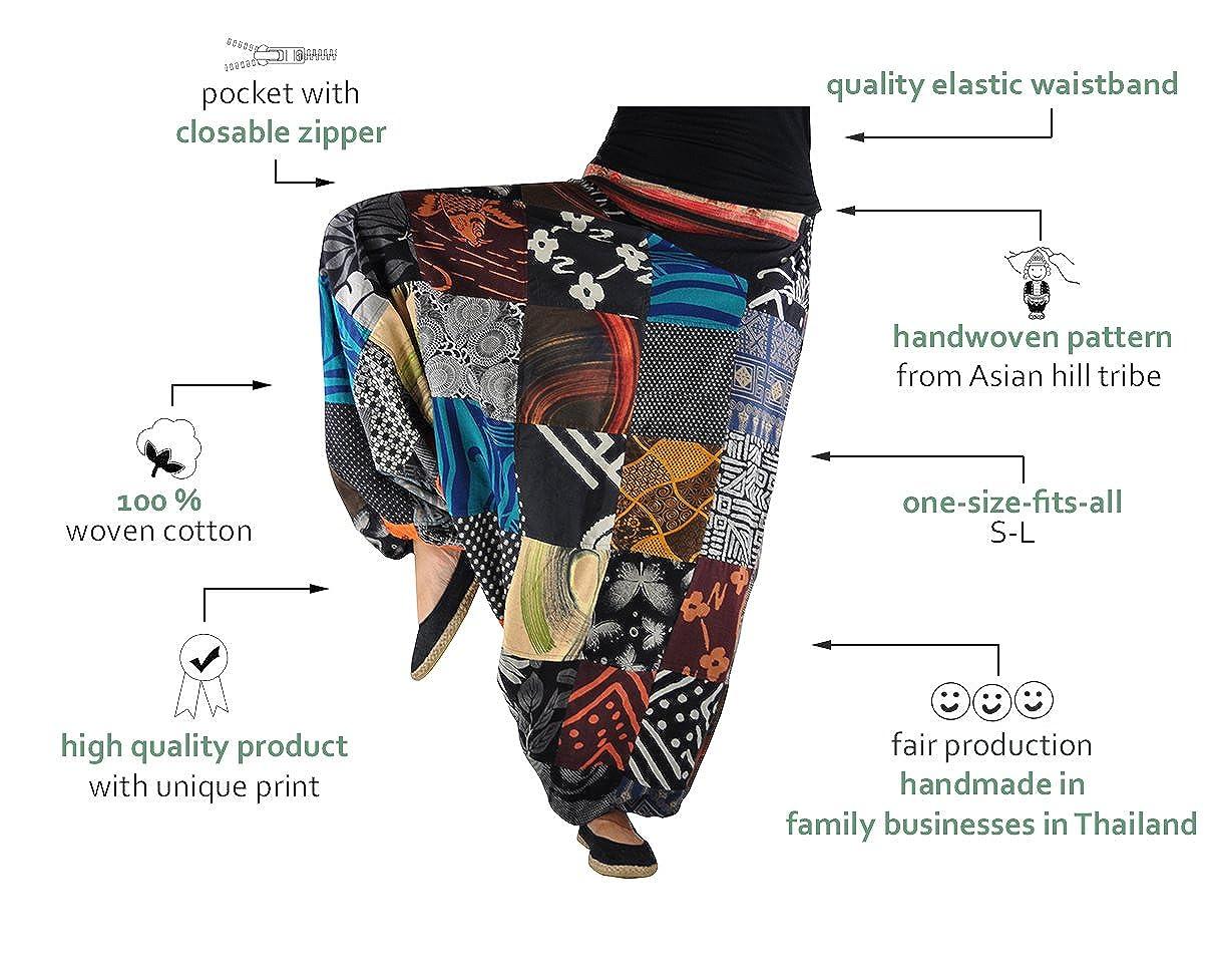 virblatt Harem Pants Traditional weavings SML Alternative Clothing – Patchwork