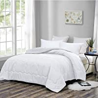 OMYSTYLE Goose Down Alternative Comforter – Light Weight Fluffy Duvet Insert Reversible Quilted Comforter for All Season,Breathable,Hypoallergenic,Fade Resistant,Machine Washable