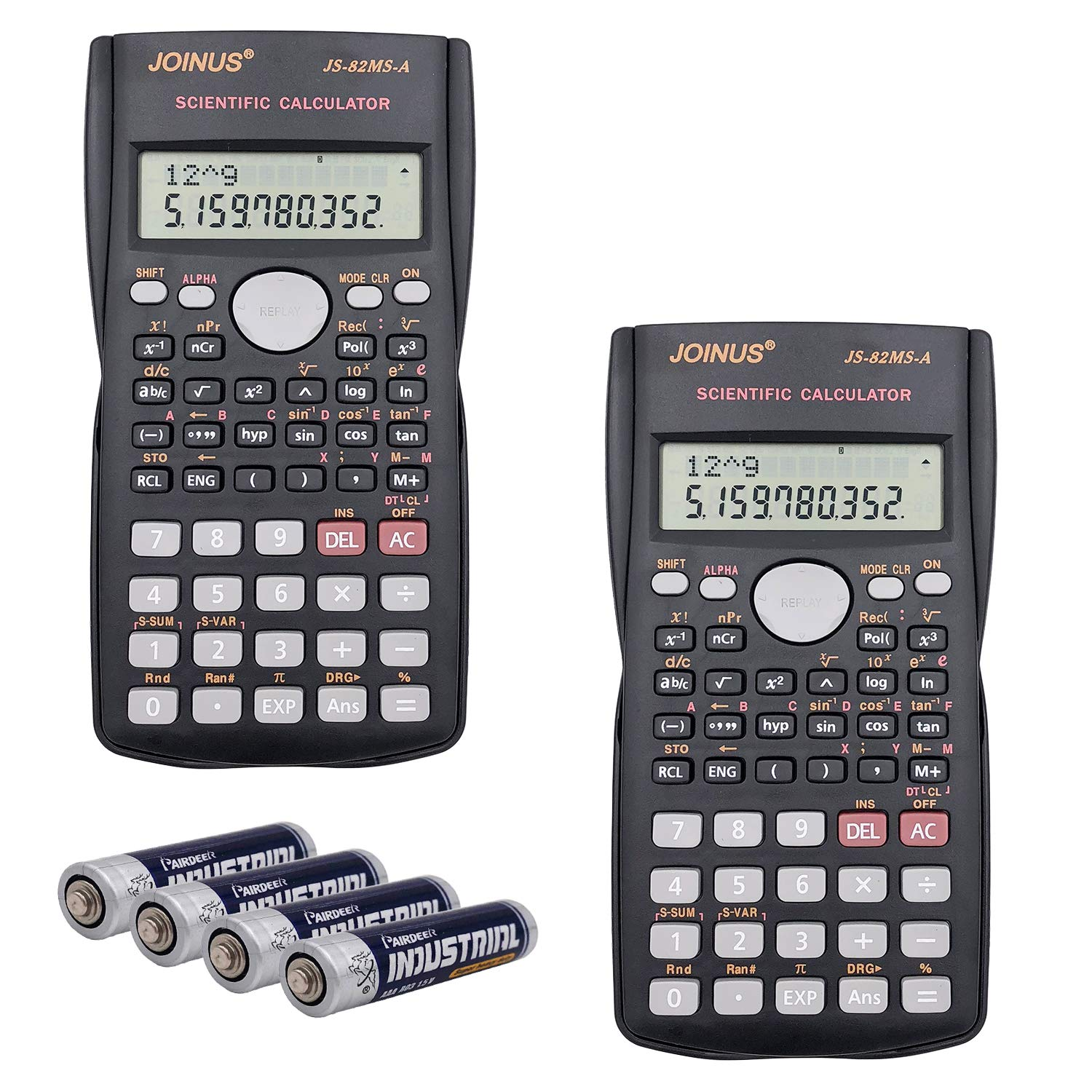 SUNYANG 2 Packs, 2-Line Engineering Scientific Calculator Function Calculator for Student and Teacher by SUNYANG