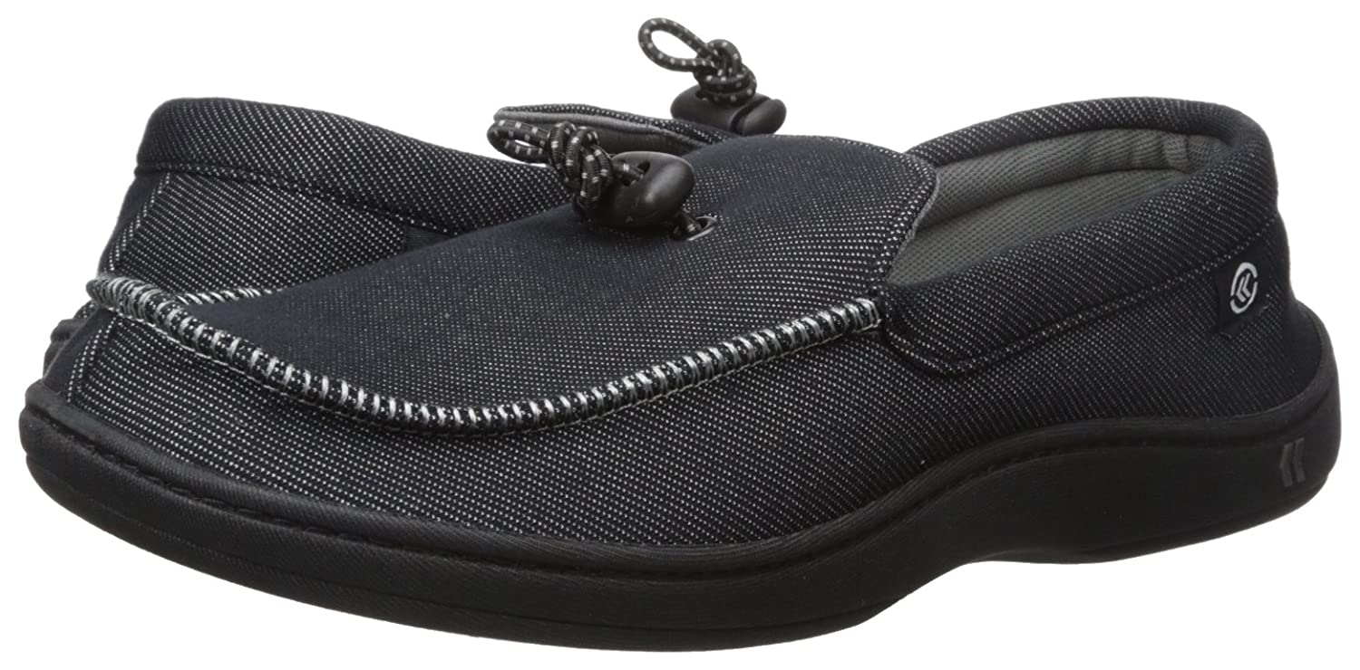 672f0ae91aff7 Amazon.com | Isotoner Men's Knit Twill Mike Moccasin Flat | Shoes