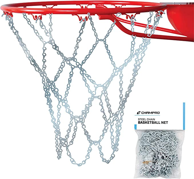 Champro Basketball Net Silver, 21-Inch Steel Chain NG01