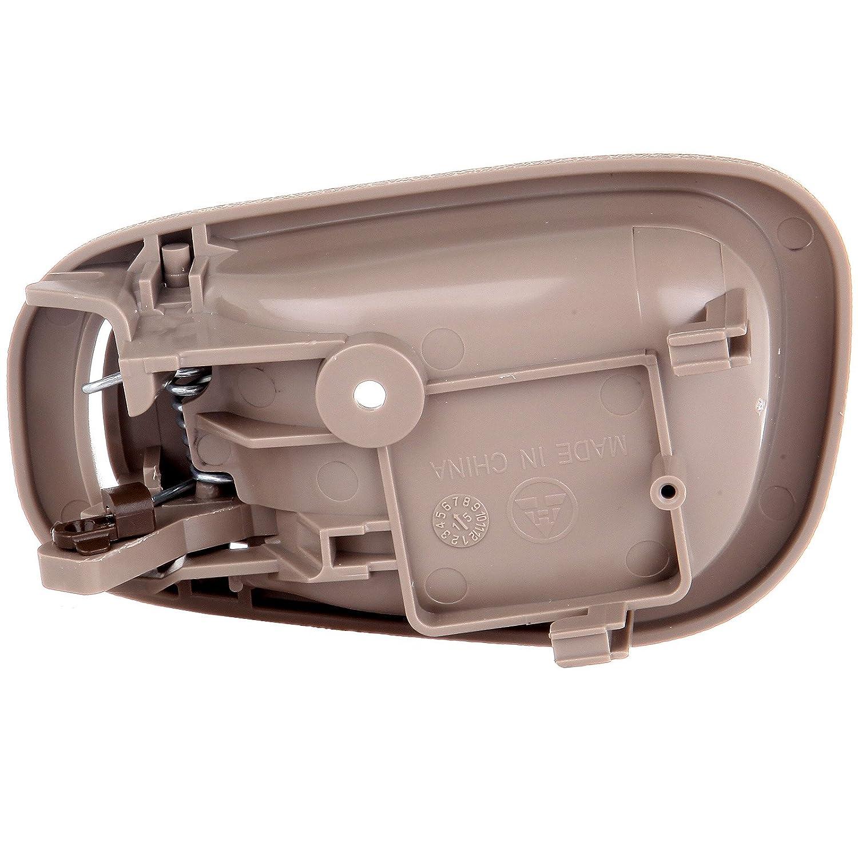 2pcs ECCPP Door Handles Interior Inside Inner Front Rear Driver Passenger Side Replacement Door Handles for 1998-2002 Toyota Corolla Beige