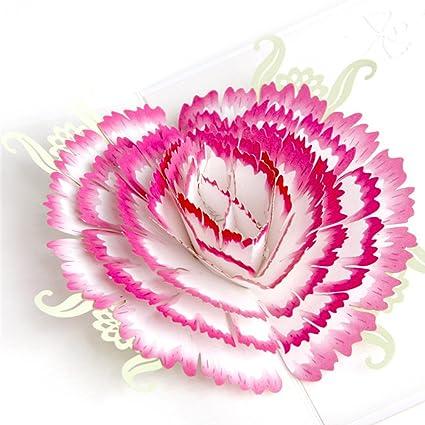 Amazon bestoyard mothers day greeting card 3d pop up mom and me bestoyard mothers day greeting card 3d pop up mom and me hearts carnation flower greeting card m4hsunfo