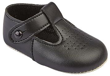 hunpta Newborn Baby Kids Non-slip Leather Toddler Soft Sole Shoes 3, White