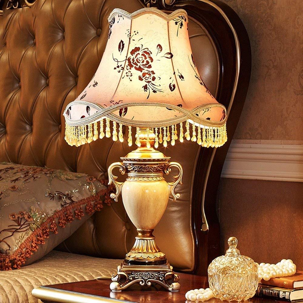 Lingyuansale アメリカンテーブルランプの寝室のベッドサイドランプクリエイティブシンプルな樹脂製のテーブルランプ - 読書ランプ 現代のテーブルランプ   B07S8W24RL