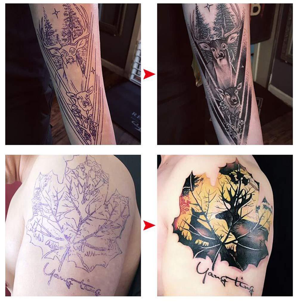 10 hojas de papel de transferencia de tatuajes de 8 x 30 cm, 4 ...