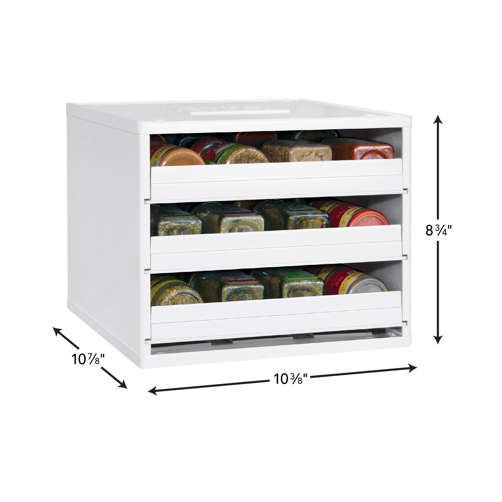 YouCopia Classic SpiceStack 24-Bottle Spice Organizer with Universal Drawers, White by YouCopia (Image #2)