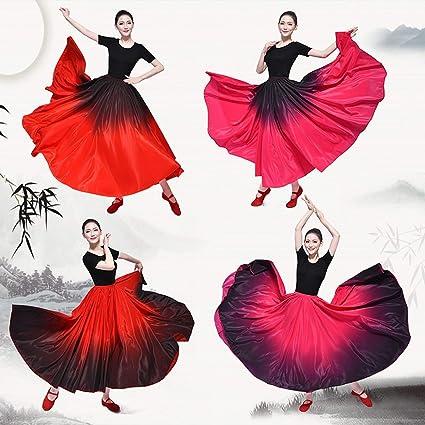 Amazon.com: Falda flamenca española de gran dobladillo para ...
