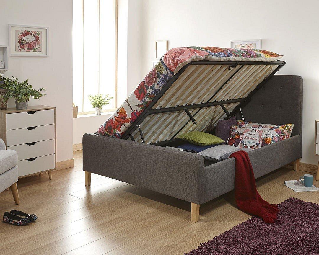 Amazon.de: Ashbourne Seite Lift Ottoman Solider Boden Bett mit ...