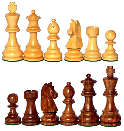 StonKraft 3.75 Inch King Height-Collector Edition Wood Chess Pieces Staunton Figure