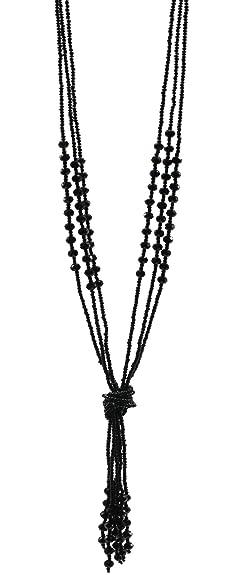 Amazon 1920s flapper gatsby necklace long black multitier 1920s flapper gatsby necklace long black multitier tassel beads pendant art deco jewelry audiocablefo