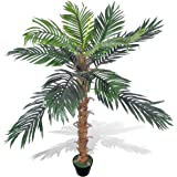 One 10 39 artificial coconut palm tree with two for Acheter palmier artificiel