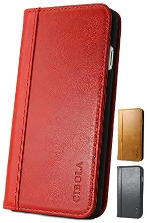 99aad3a78c CIBOLA 高級牛革 iPhone6s Plus ケース iPhone6 Plus ケース 手帳型 本革 耐衝撃 アイフォン