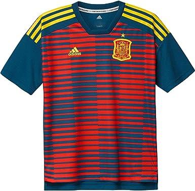 adidas España de Home Pre Match Camiseta: Amazon.es: Ropa y accesorios