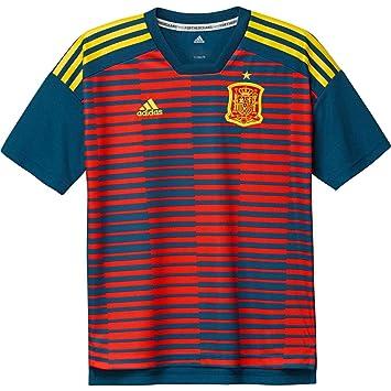 Adidas España de Home Pre Match Camiseta: Amazon.es: Deportes y aire libre