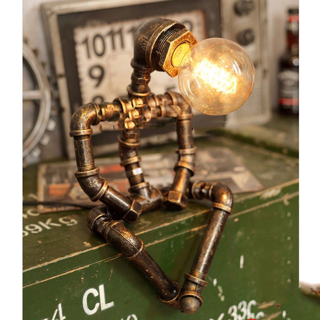 Industrielles Retro- Windbarroboter-Wasserleitungslampen-Geburtstagsgeschenk-Schlauchlicht der industriellen Windtischlampe schmiedeeiserne Lampe