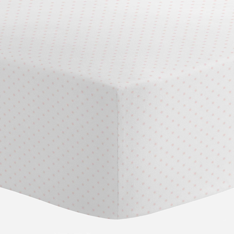 Fitted Crib Sheet Glitz Metallic Dots on Blush Pink