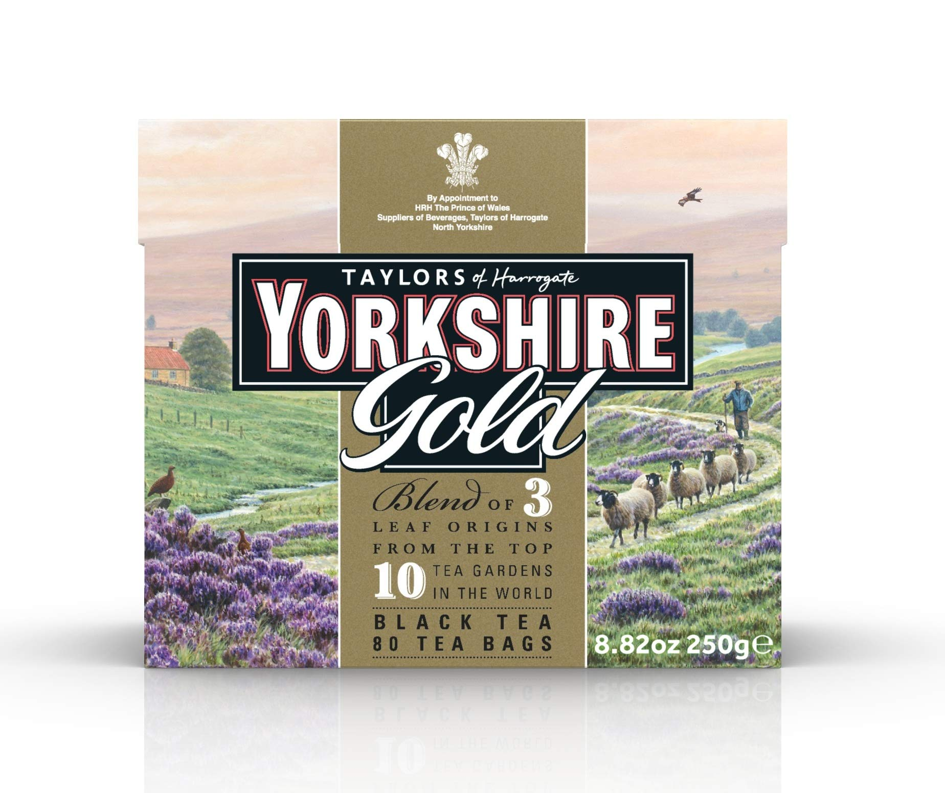 Taylors of Harrogate Yorkshire Gold, 80 Teabags, (Pack of 5) by Yorkshire Tea
