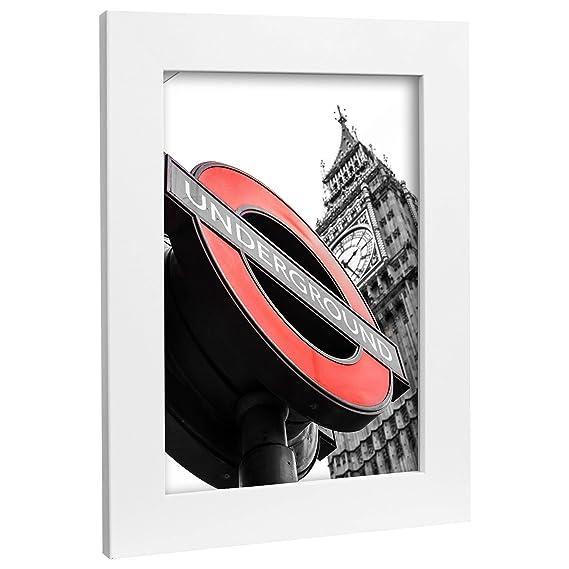 Bilderrahmen Fotorahmen 60x90 cm weiß bilderrahmen zum aufhängen MDF Picture Frames Farbe und 40 Verschiedene Größen wählbar