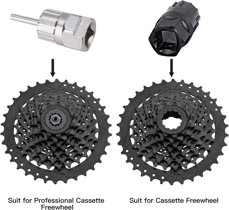 TuoTu Kit de herramientas para quitar el n/úcleo de v/álvula de la bicicleta y el coche con n/úcleo de v/álvula de repuesto de lat/ón Presta y Schrader