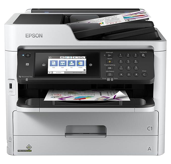 Epson Workforce Pro WF-C5710DWF - Impresora multifunción (Inyección de Tinta, 4800 x 1200 dpi, 330 Hojas, A4, Impresión Directa, Negro, Gris)