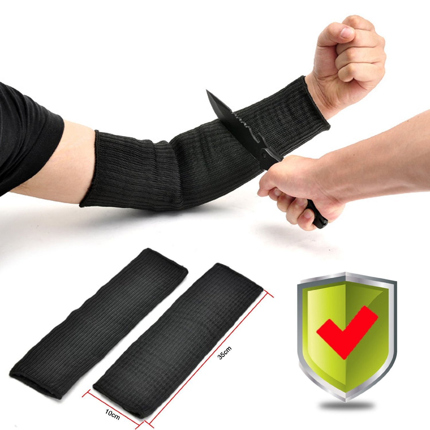 Protective Arm Sleeves Yosoo 1 Pair Steel Wire Tactical Cut Proof Armband Arm Guard Bracers Anti-Cut Burn Resistant Sleeves, Anti Abrasion Safety by Yosoo (Image #1)