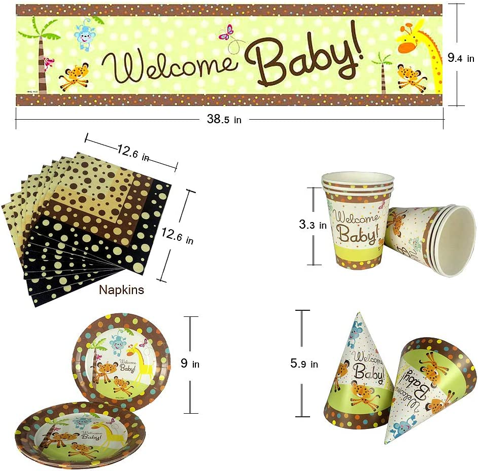 Cartoon Party Supplies Kit-Serves 6 Guests Party Favors Girls Birthday Party Decoration Cutlery Plates Cups Napkins Straws Utensils Birthday Banner /& Balloons 73PCS