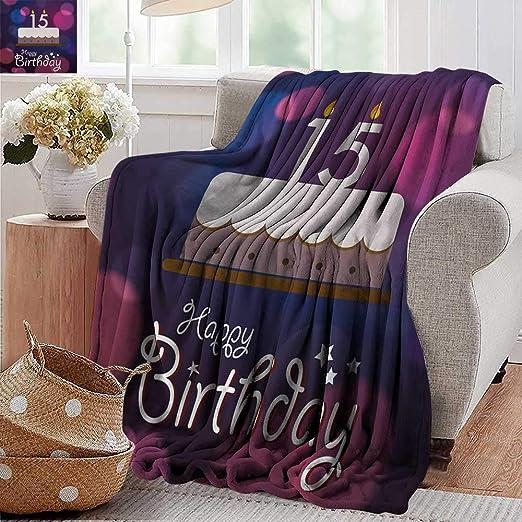XavieraDoherty - Manta para cumpleaños número 15 con Velas ...