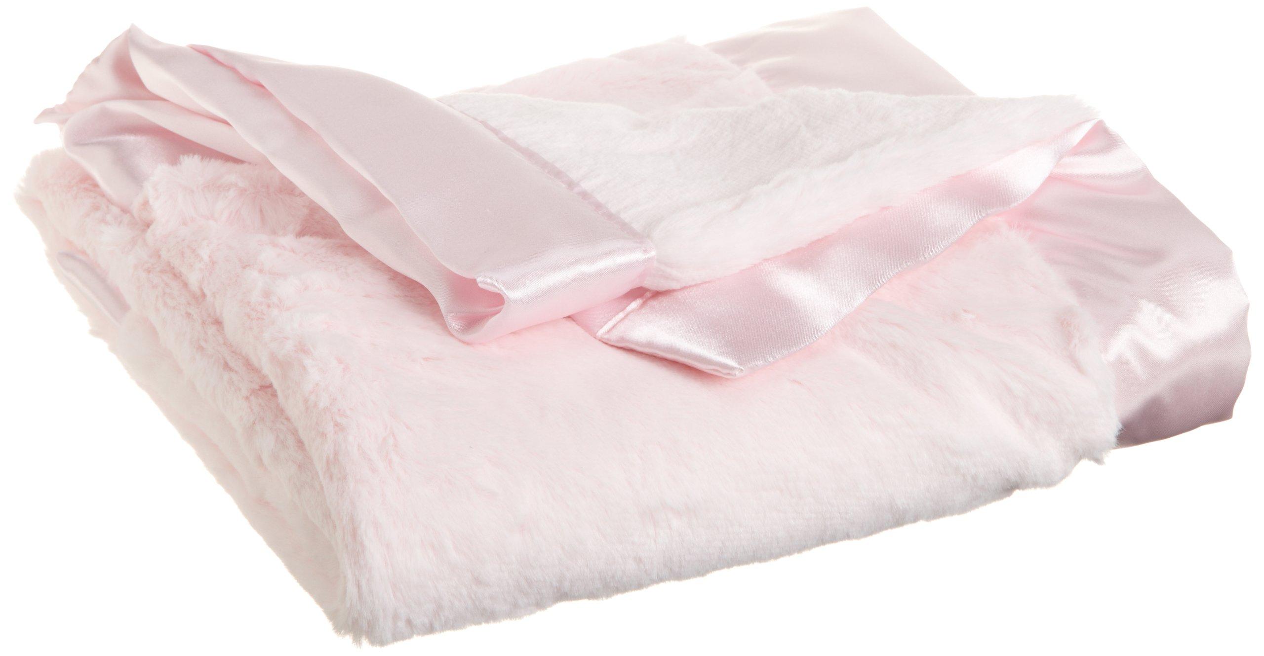 Little Me Baby-Girls Newborn Plush Stroller Blanket, Light Pink, One Size by Little Me