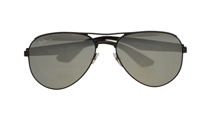 adad27cbad8 Image Unavailable. Image not available for. Color  Ray Ban Mens Sunglasses  RB3523 006 6G Matte Black ...