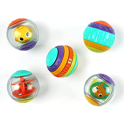 Bright Starts Roll Shake and Spin Activity Balls: Toys & Games
