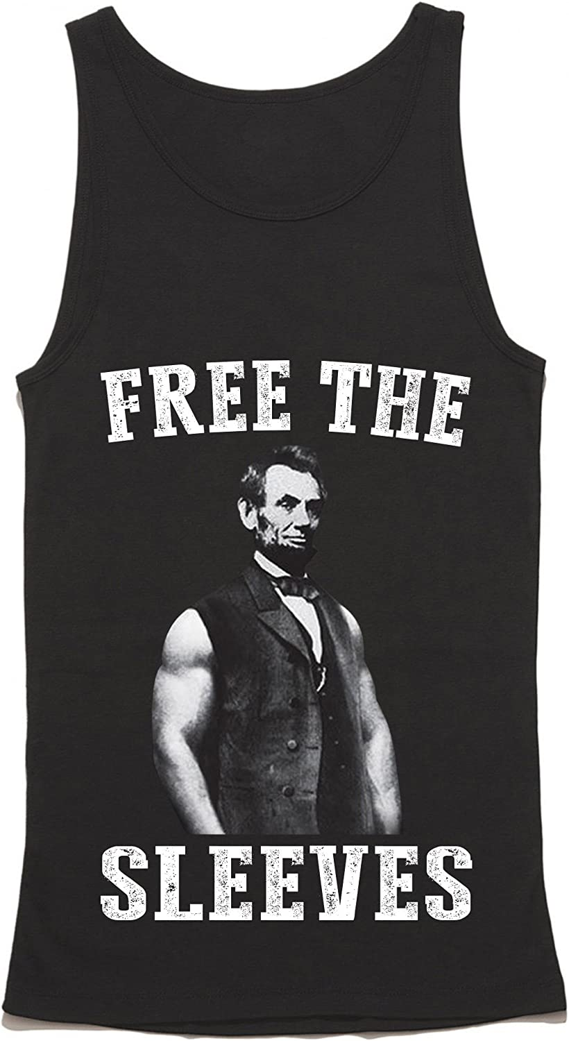 Abe Lincoln Abolish Sleevery HGOS Free The Sleeves Tank Top Funny Gym Tank Top