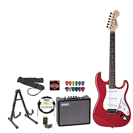 Fender 028 – 0001 – 540-amp-kit – Fender Squier Fiesta Rojo Guitarra