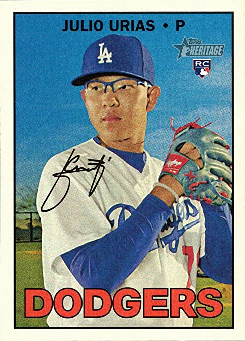 2016 Topps Update Gold #US45 Julio Urias Baseball Rookie Card Only 2,016 made!