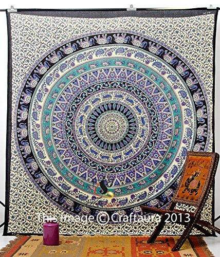 INDIAN-HIPPIE-BEACH-BLANKET BOHEMIAN-PSYCHEDELIC-MANDALA (Hippie Tattoo Designs)