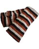 Chillouts Handstulpen Stripes braun