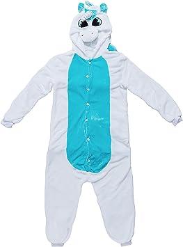 Katara- Pijama (10+ Modelos) Disfraz Animales Cosplay Adultos, Color unicornio blanco-azul, Talla 165-175cm (1744)