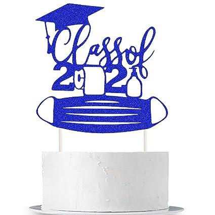 Diploma Quarantine Graduation Fondant Cake Decorations Class of 2020 Quaranteens Graduation Cake Toppers Plaque Graduation Cap