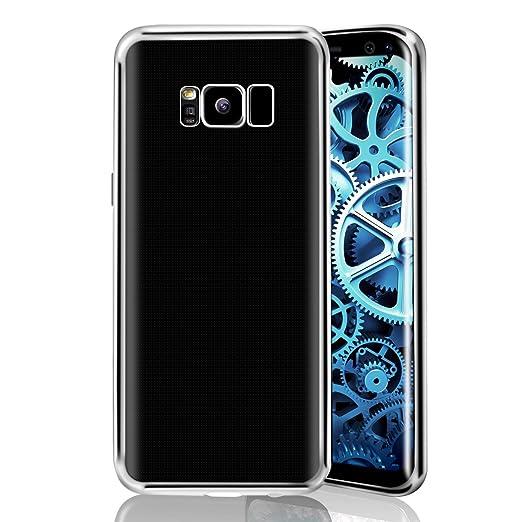 34 opinioni per Galaxy S8 Custodia,CXG Silicone Caso Paraurti in TPU Morbida Trasparente