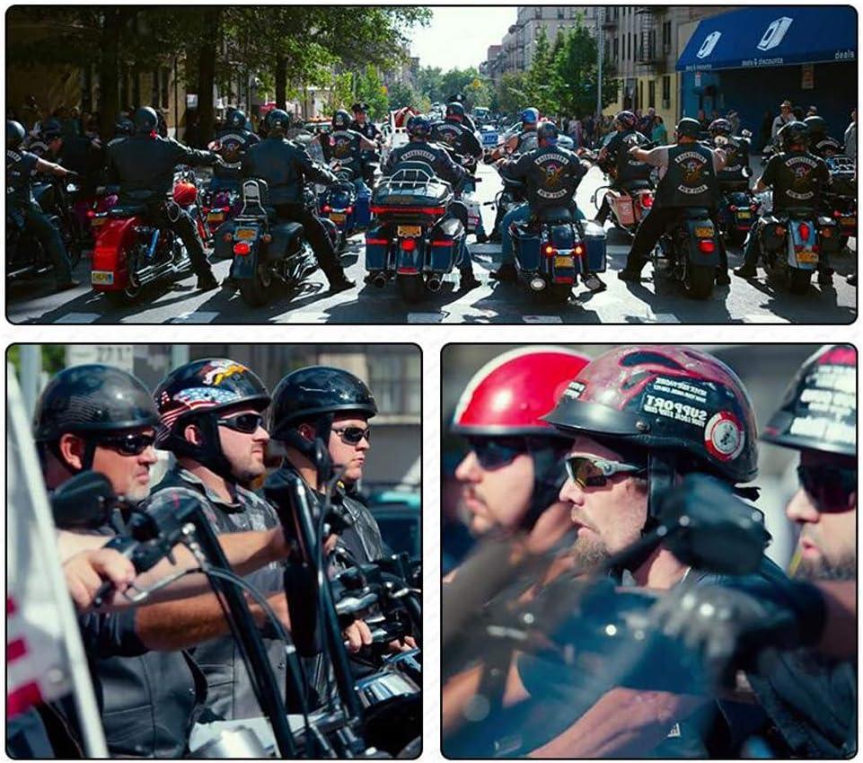 TKUI Demi Casque de Moto Casques Harley Vintage /à Face Ouverte avec d/égagement Rapide de Lunettes pour Cruiser